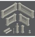 set of architectural element balustrade vector image