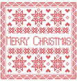Merry Xmas Tile with snowflakes vector image