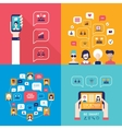 Social Network Technology Banner set People using vector image vector image