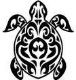 Turtle tribal tattoo vector image vector image