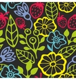 Seamless pattern with plants silhouettes vector image