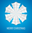Snowflake Corner paper 12 vector image