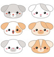 animal faces vector image