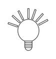 isolated energy bulb vector image