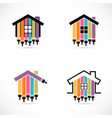 set of house renovation icons painting services vector image