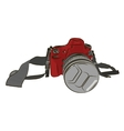Sketch red camera on a white background vector image
