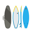 Surfing Board Set vector image