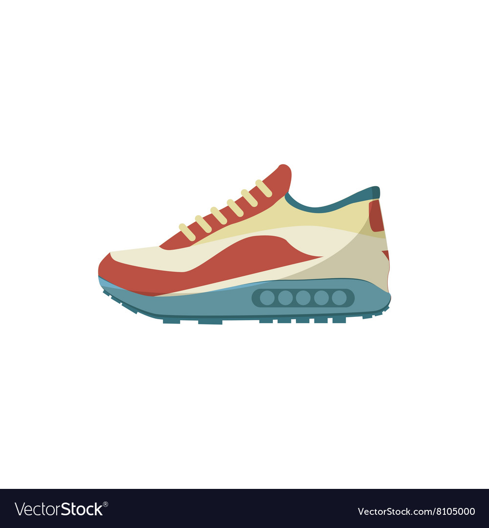 Sneakers icon cartoon style vector