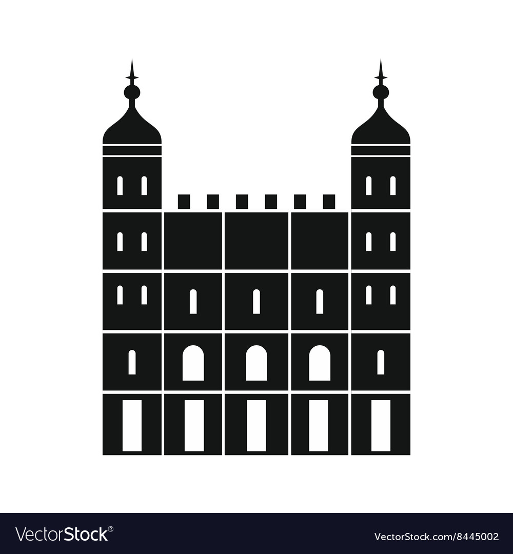 Tower of london in england icon simple style vector