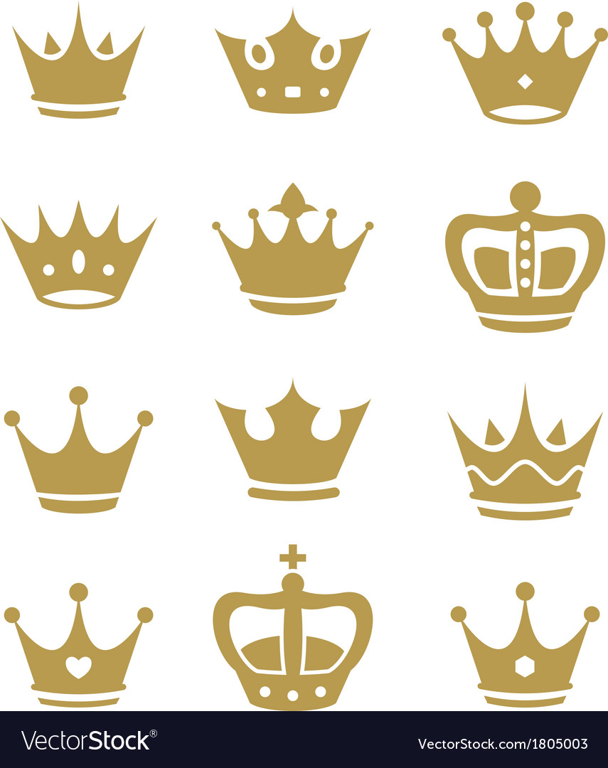 Crown collection  silhouette vector