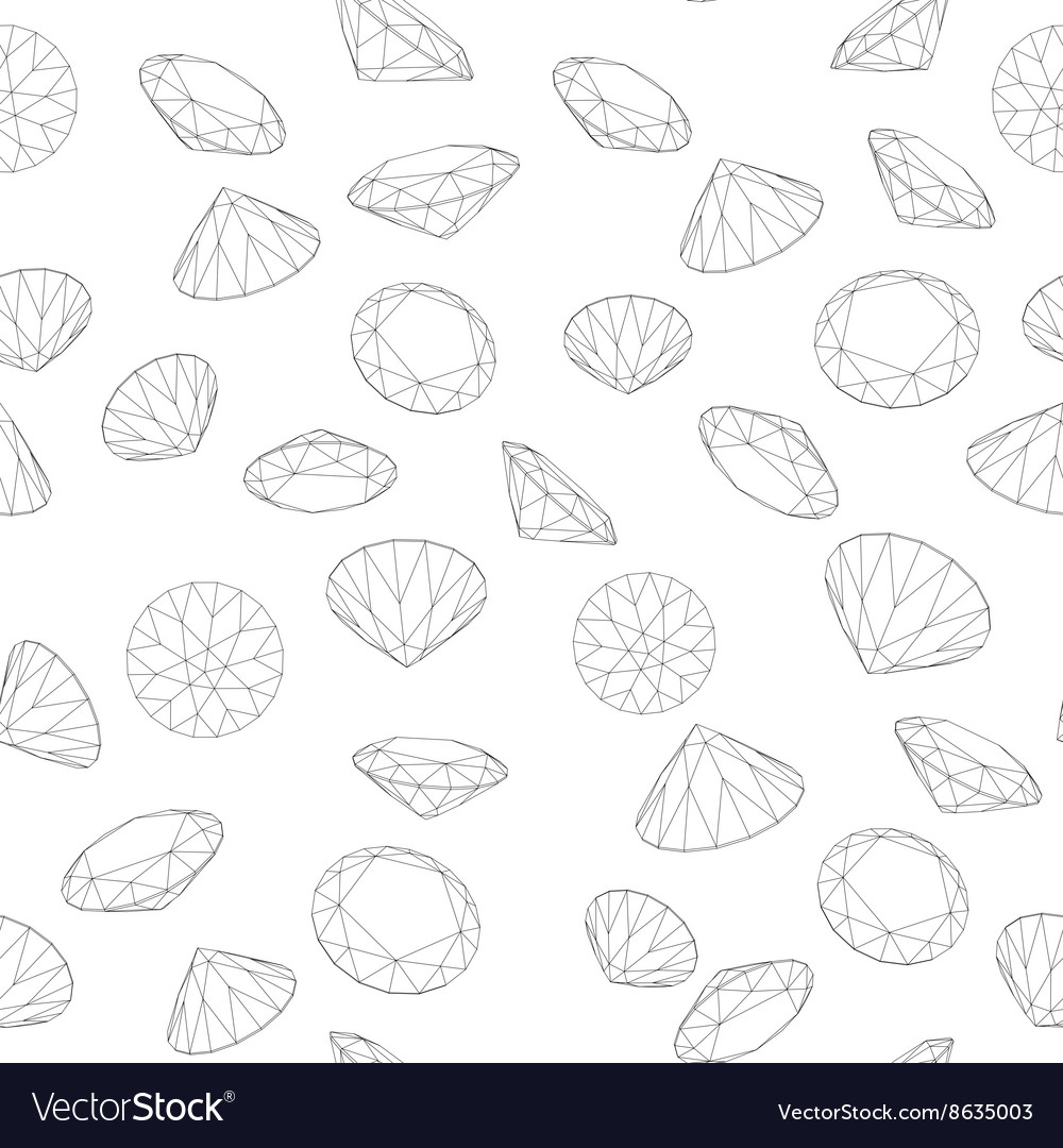 Seamless diamond pattern vector