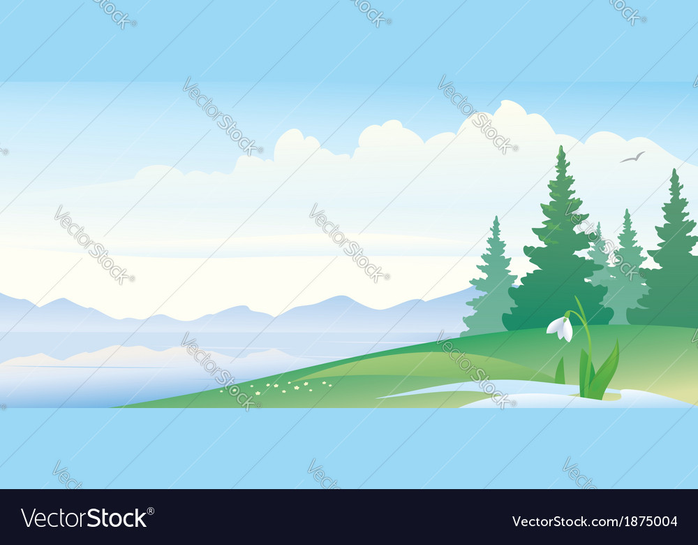 Early spring banner vector
