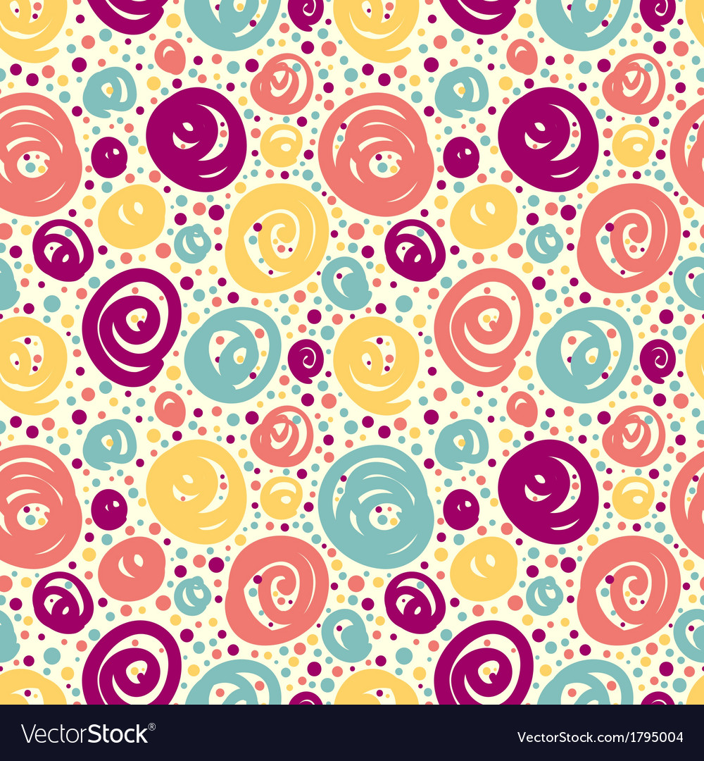 Seamless pattern with doodle dots vector