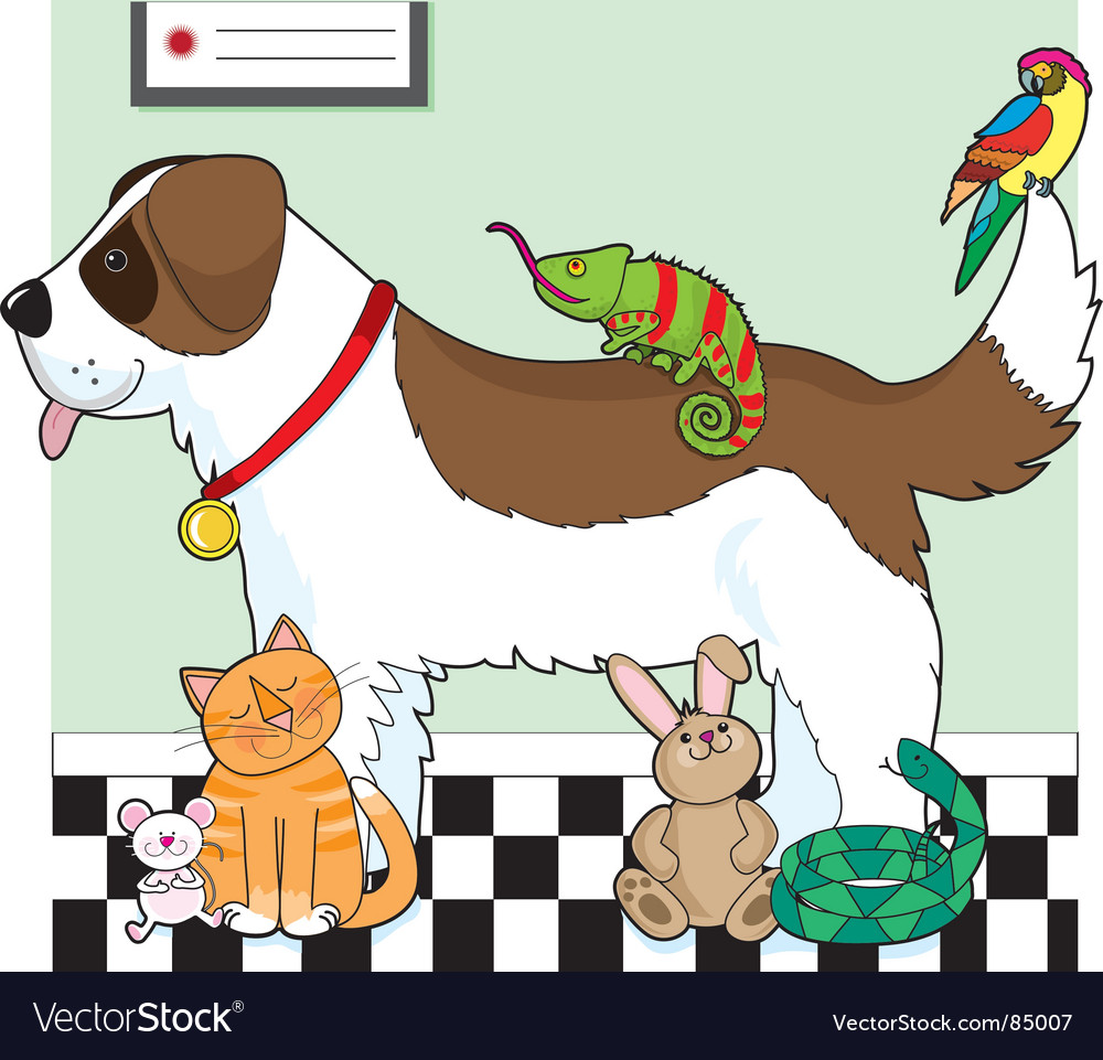 Pet group vector
