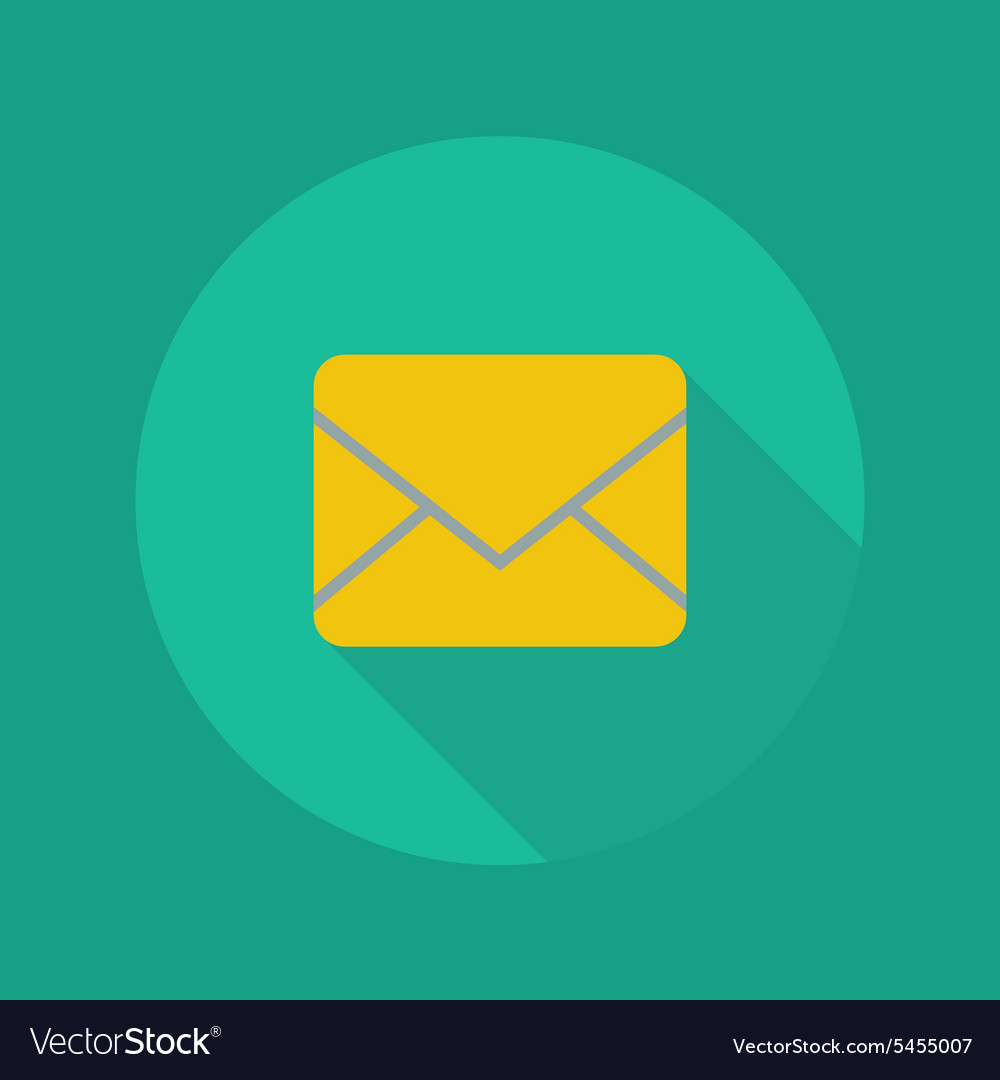 Technology flat icon email vector