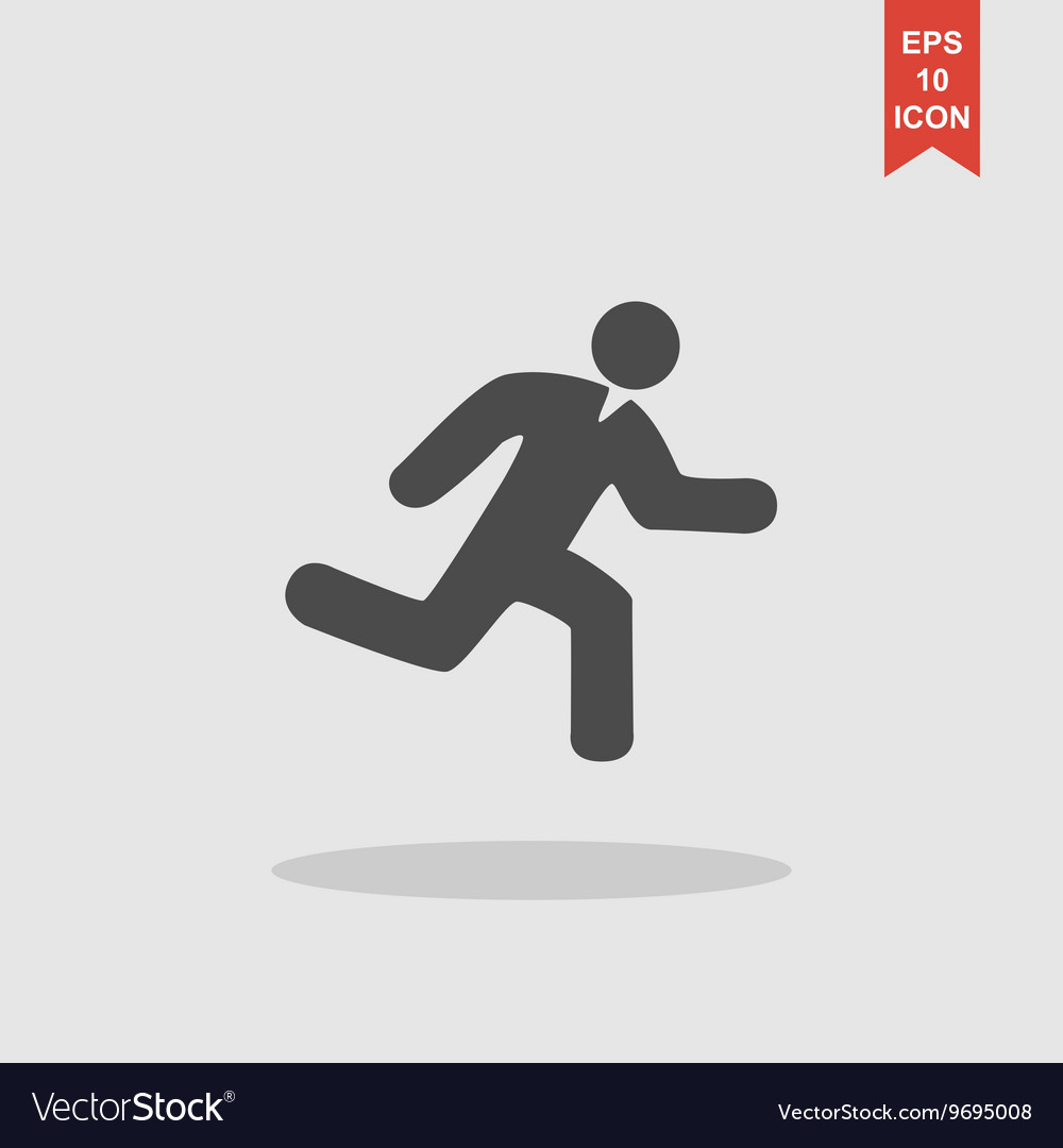 Man running icon vector