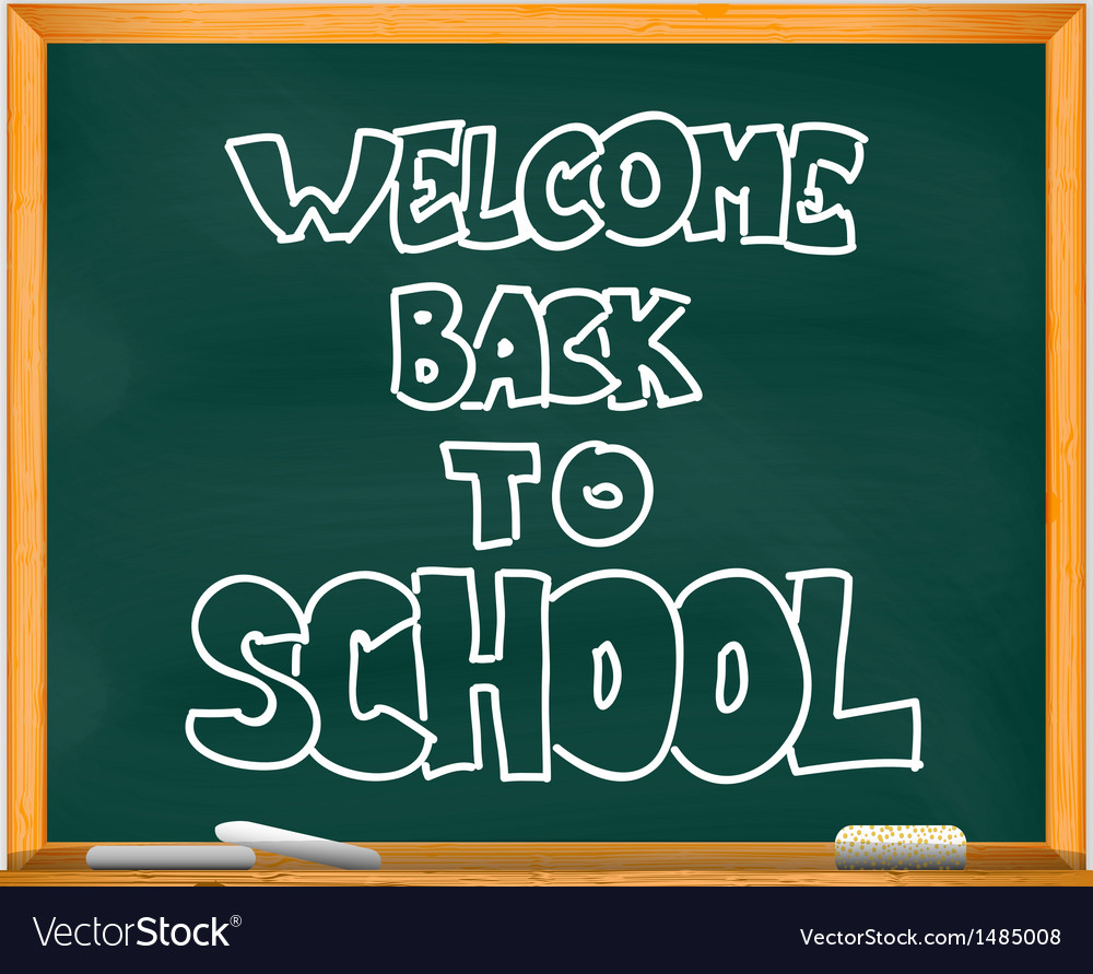 School chalkboard vector