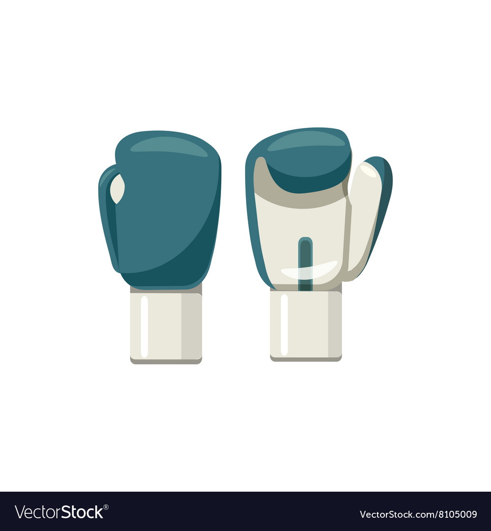 Boxing gloves icon cartoon style vector