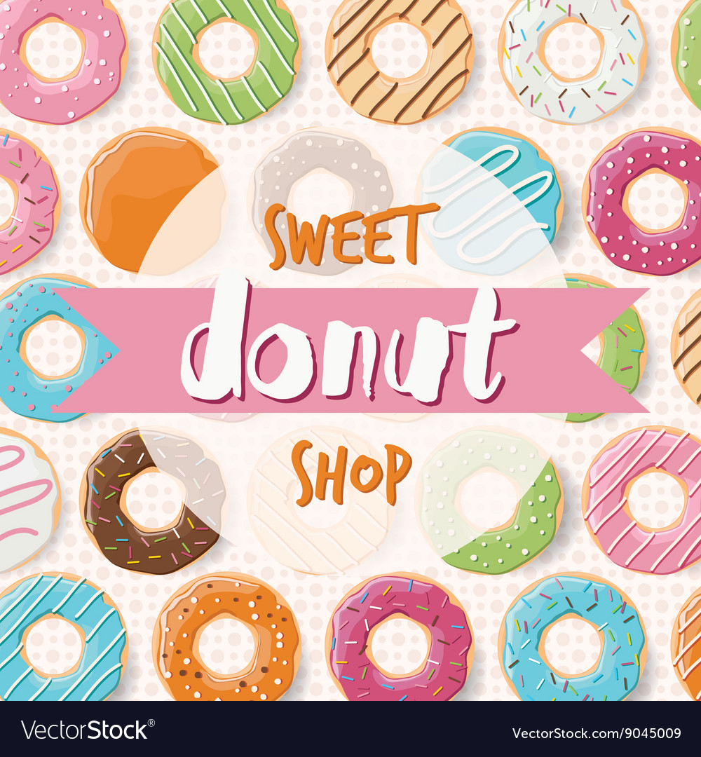 Poster design for a donut shop vector