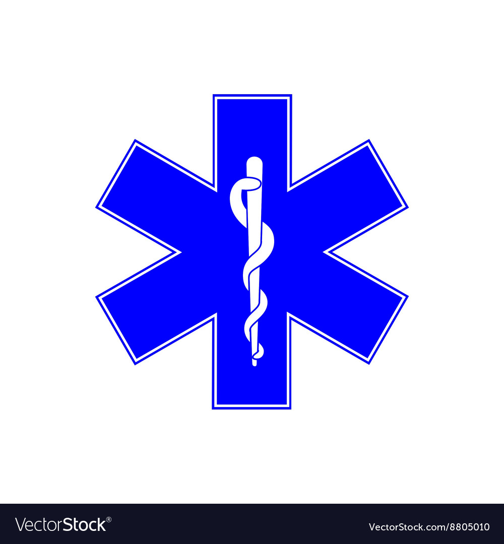 Medical symbol of emergency  star of life vector