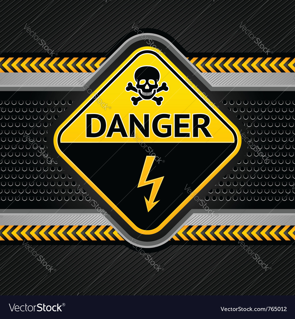 Danger electricity background vector