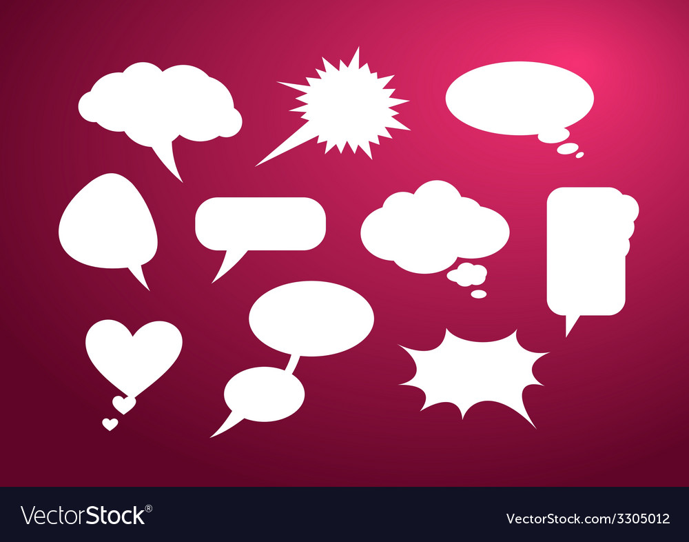 Set of bubble icon vector