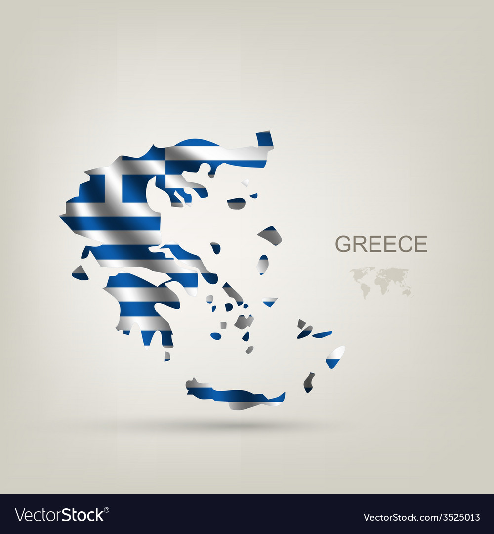 Flag of greece as a country vector