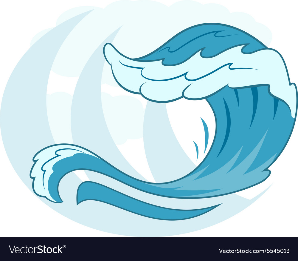 Sea wave symbol 2 vector
