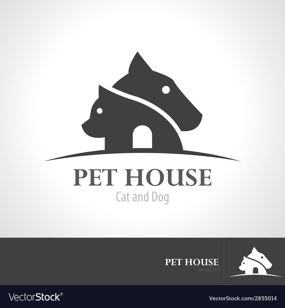 Pet house icon symbol vector