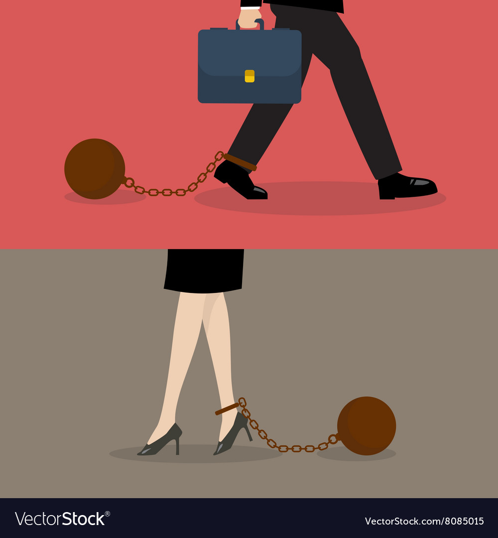 Business man and business woman with weight burden vector