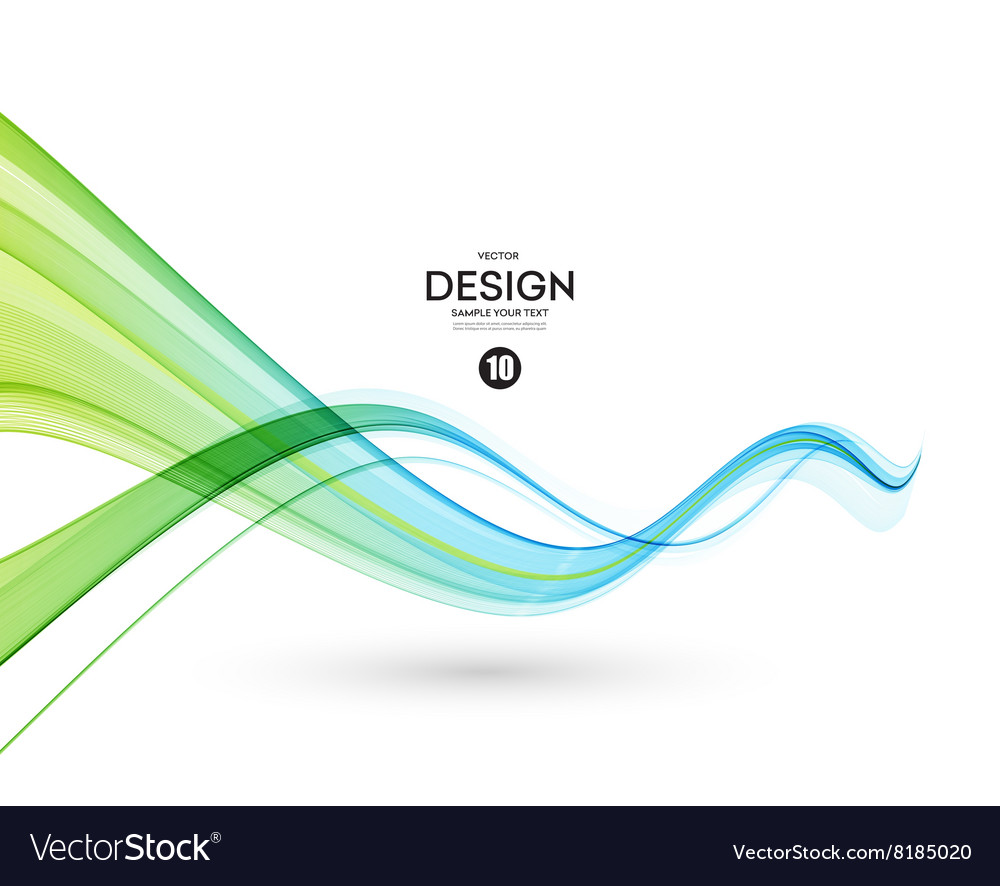 Abstract blue color wave design element blue and vector