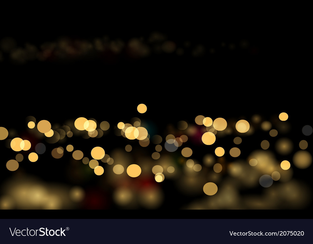 City bokeh vector
