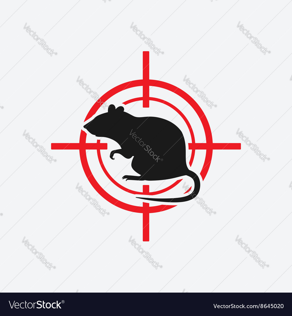 Rat icon red target vector