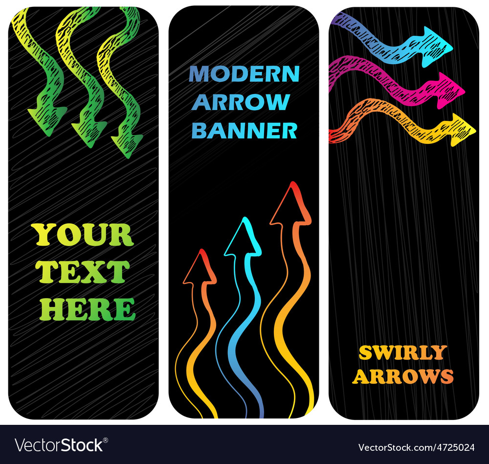 Vertical banners with arrows vector