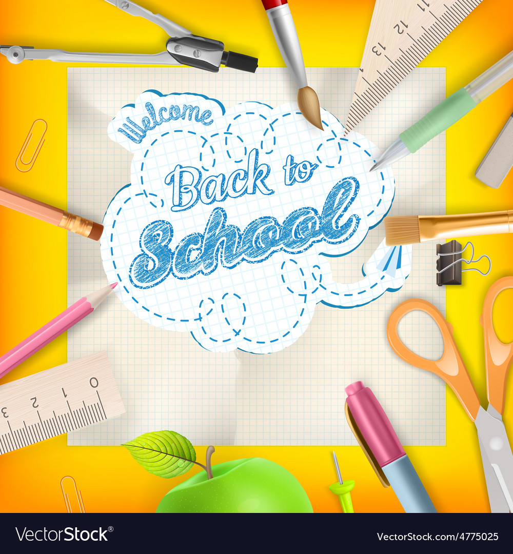 Back to school  school supplies eps 10 vector