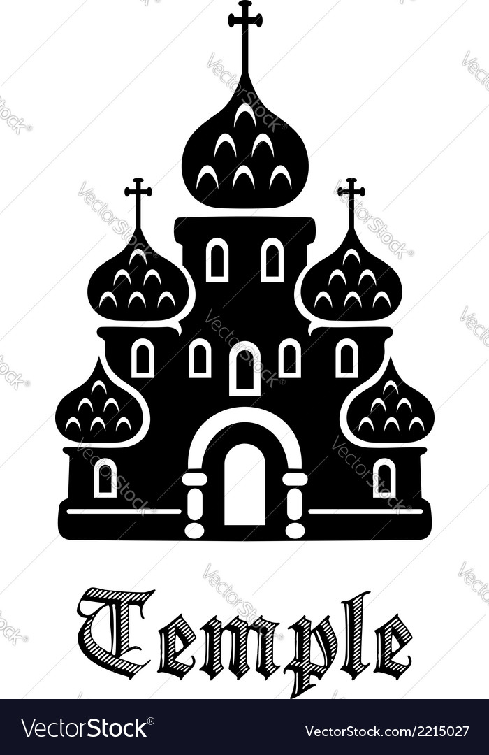 Temple icon vector