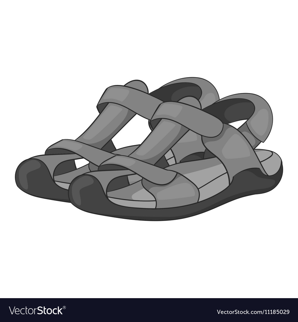 Sandals icon gray monochrome style vector