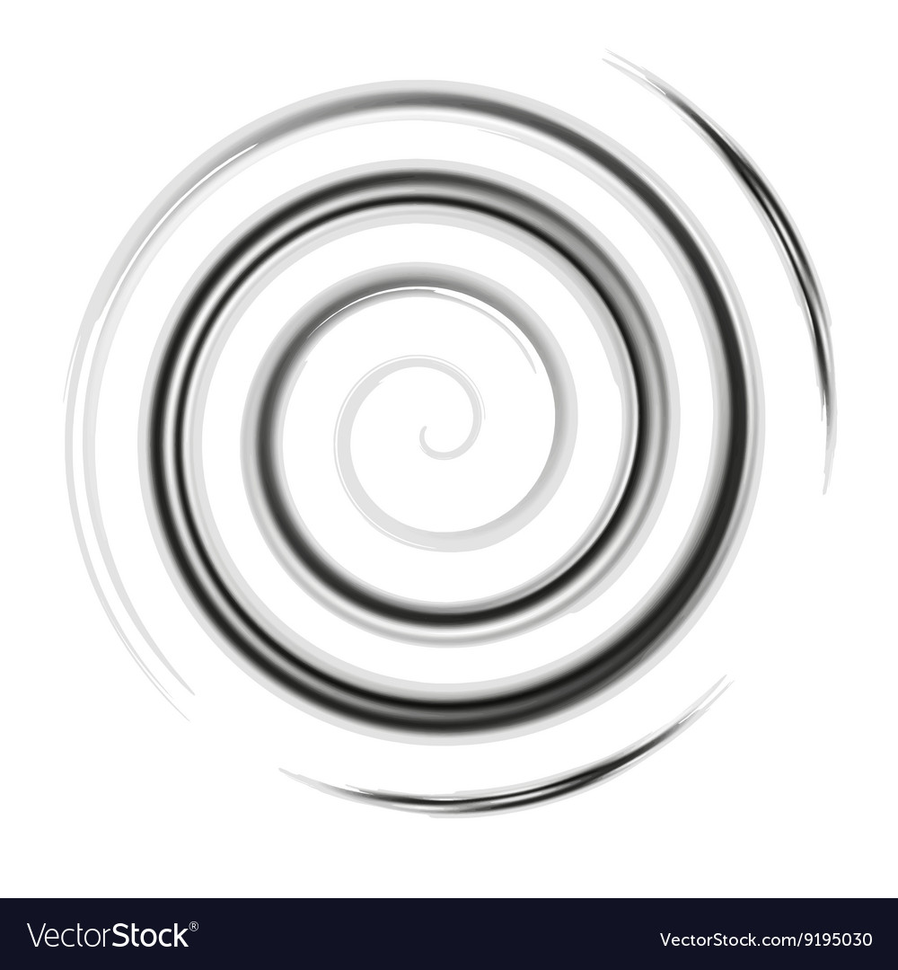 Silver watercolor spiral vector