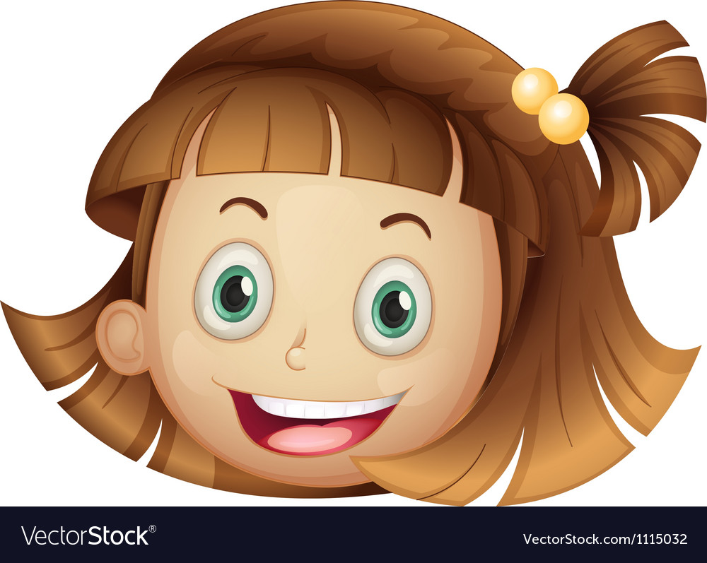 Face of a girl vector