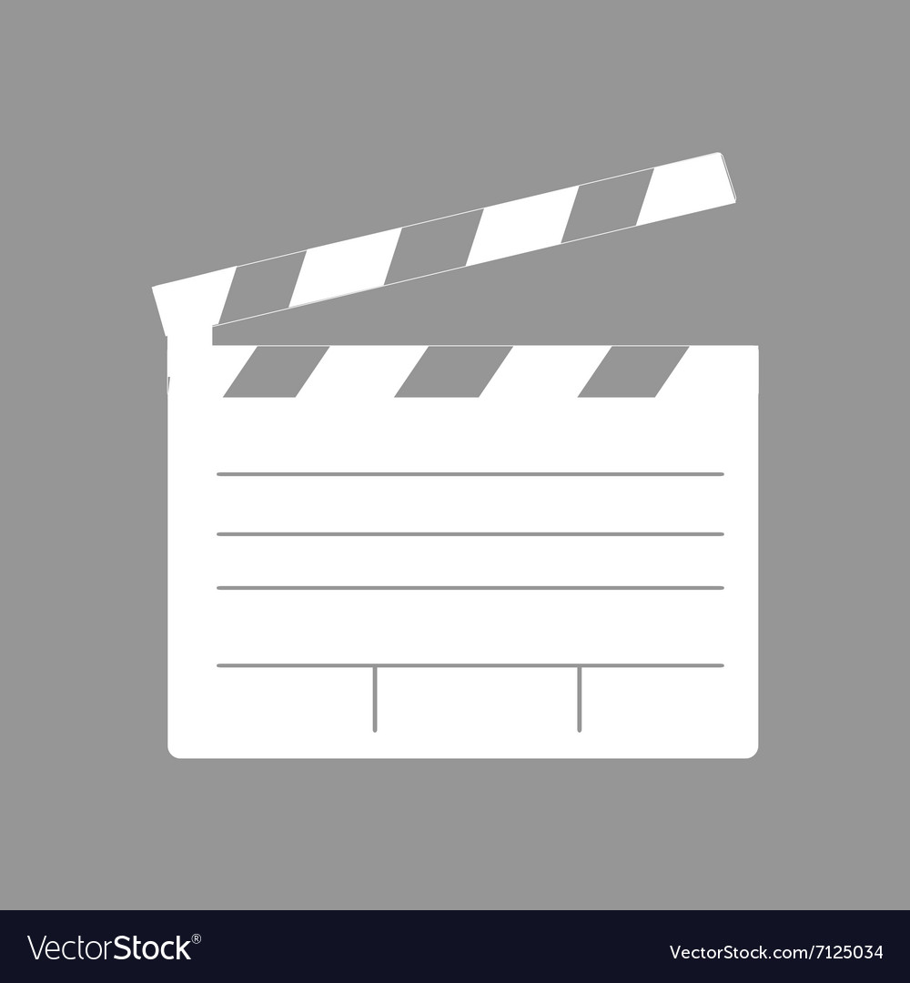 Sinema flat icon vector
