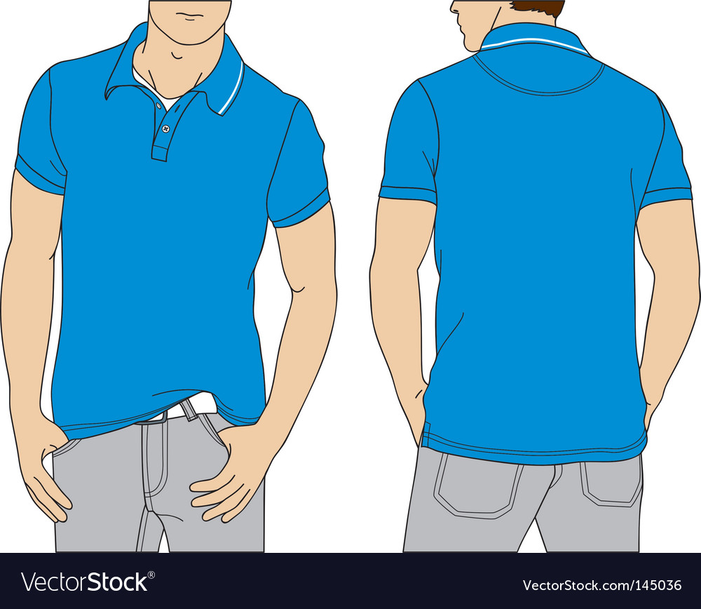 Polo tshirt vector