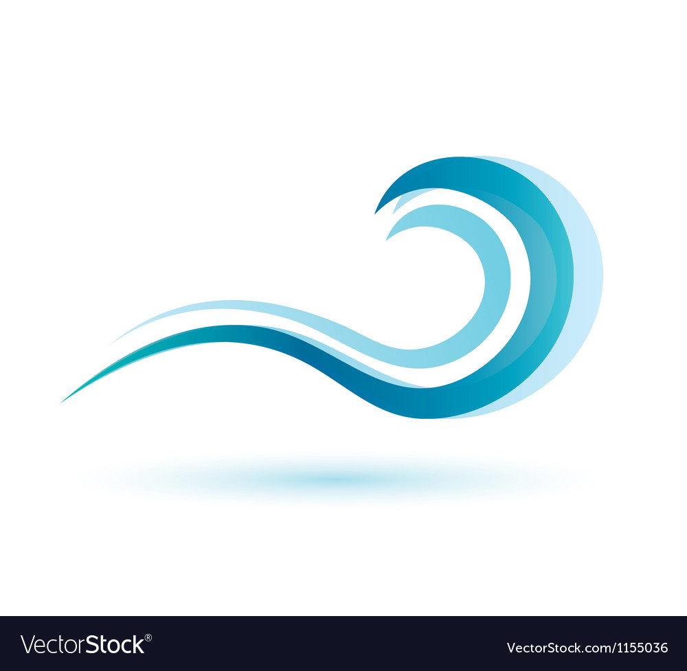 Water wave symbol isolated icon vector