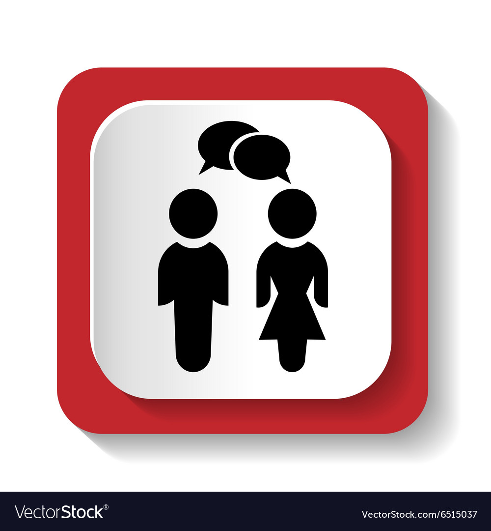 Icon with the image of women and men vector