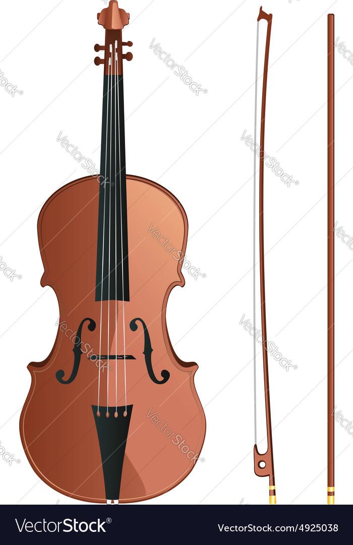 Violin with bow2 vector