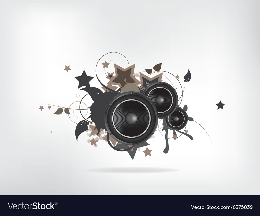 Abstract music retro grunge background vector