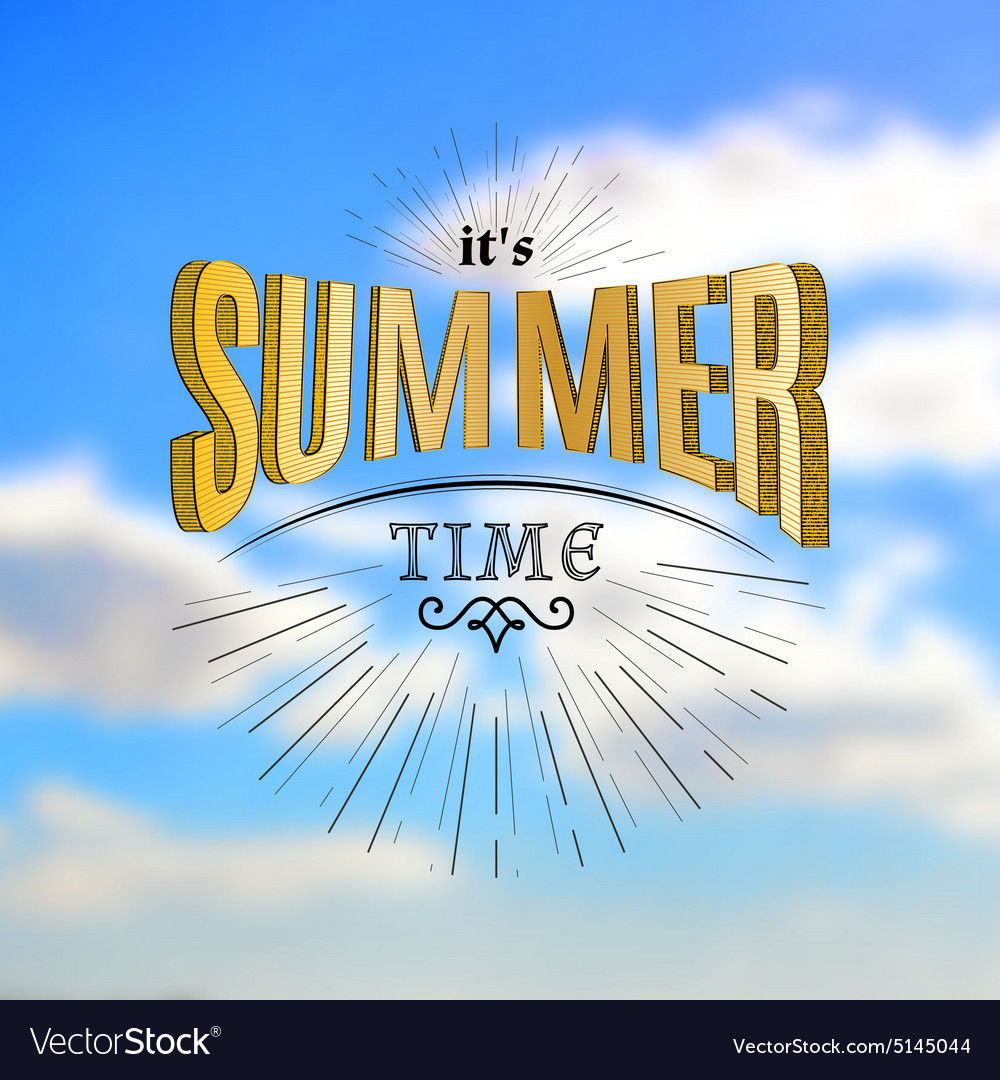 Summer time badges logos and labels for any use vector