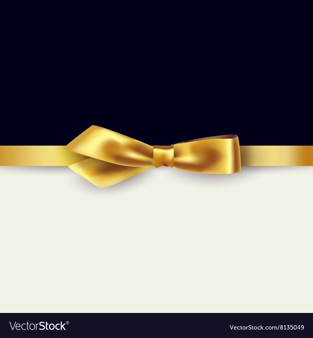 Shiny gold satin ribbon vector