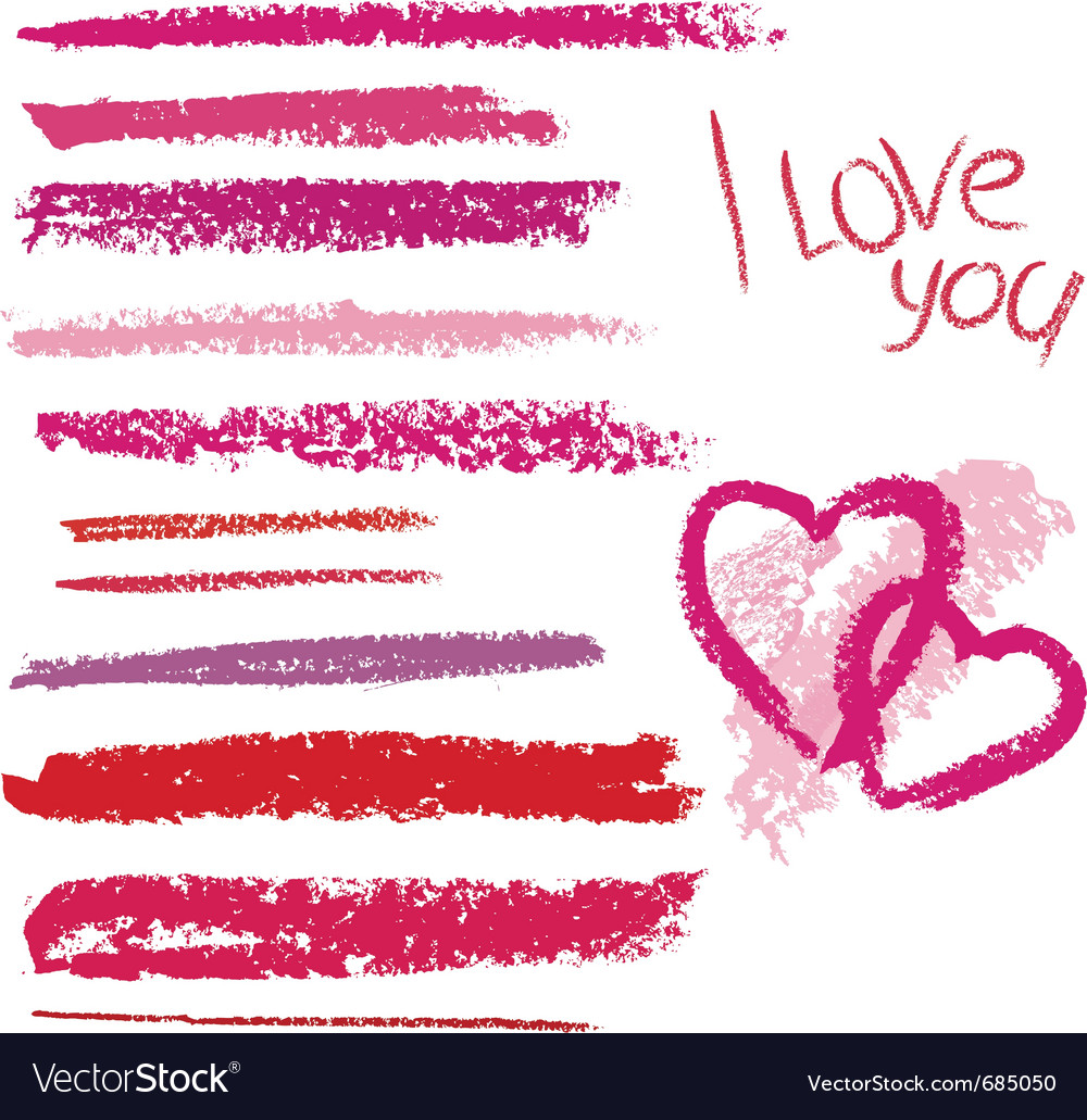 Brush made by line lipstick vector