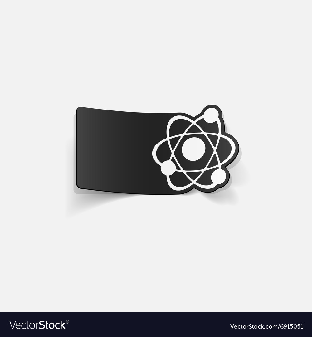 Realistic design element atom vector