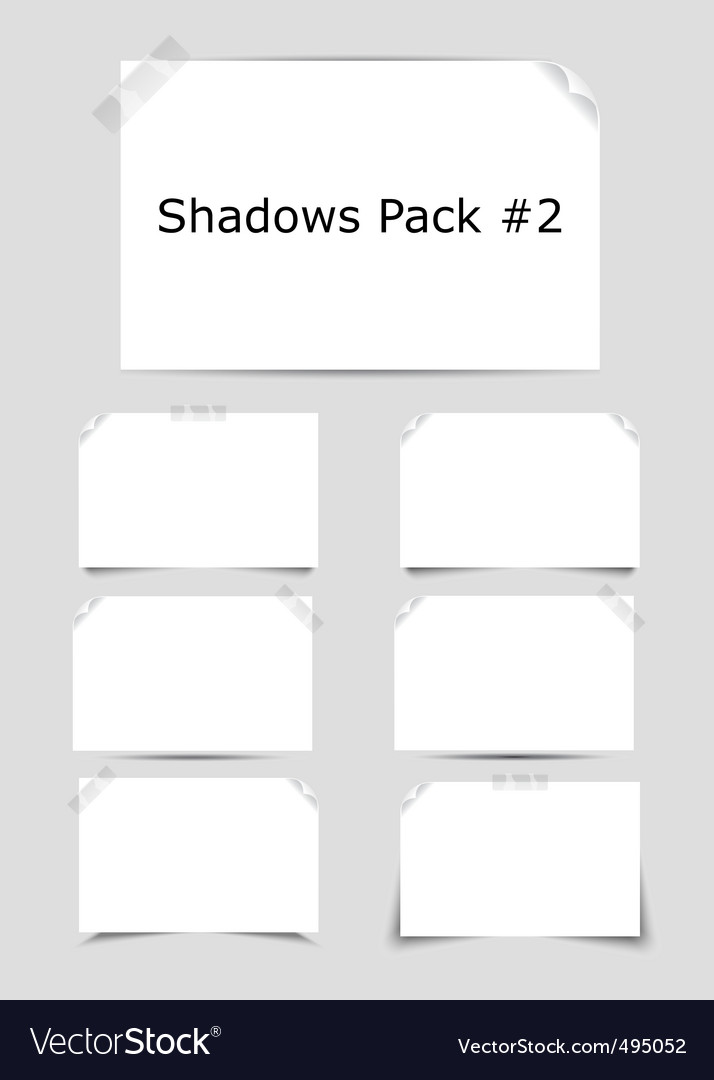 Shadows pack vector